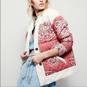 FREE PEOPLE quilted down jacket(BNWOT)